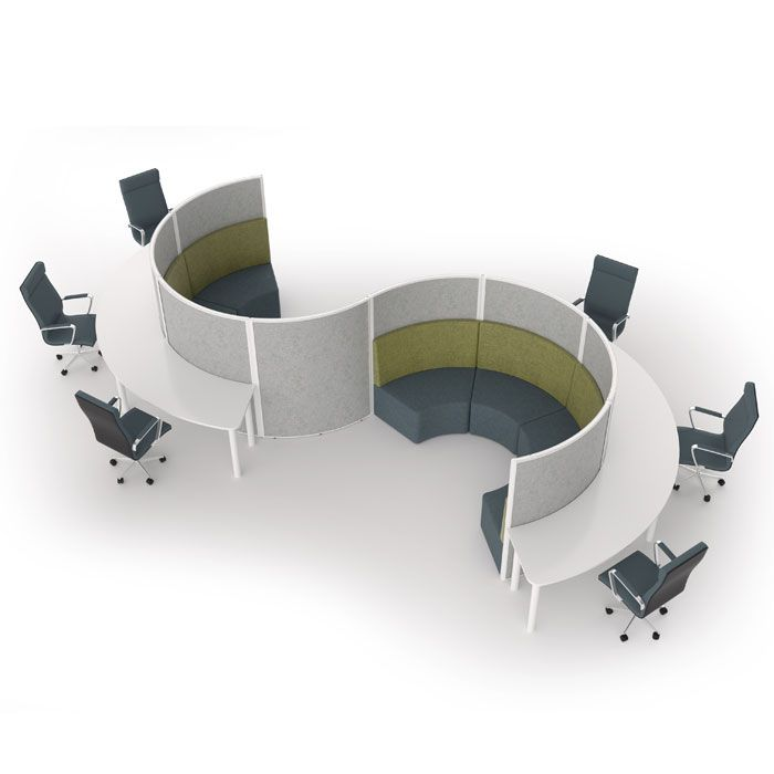 Freestanding Partition With Options For Seating And Workstations | Privacy  Screen | Office Dividers